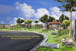 Sân vườn công ty Anmitools Hưng yên
