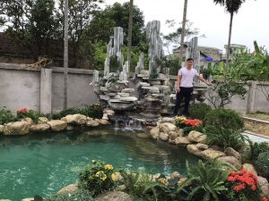 Hồ koi đá quý Tuyết Sơn, cuội vân mây