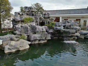 Thác nước cho Hồ koi đá xanh Ninh vân